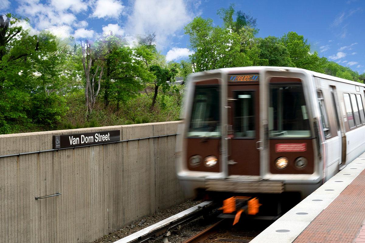 10 minutes to Van Dorn Street Metro in Alexandria, VA