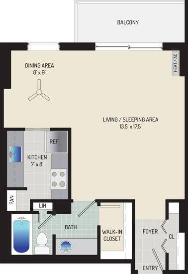 London Park Towers Apartments - Apartment 145375-0701-D