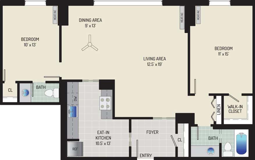 London Park Towers Apartments - Apartment 145375-1011-W