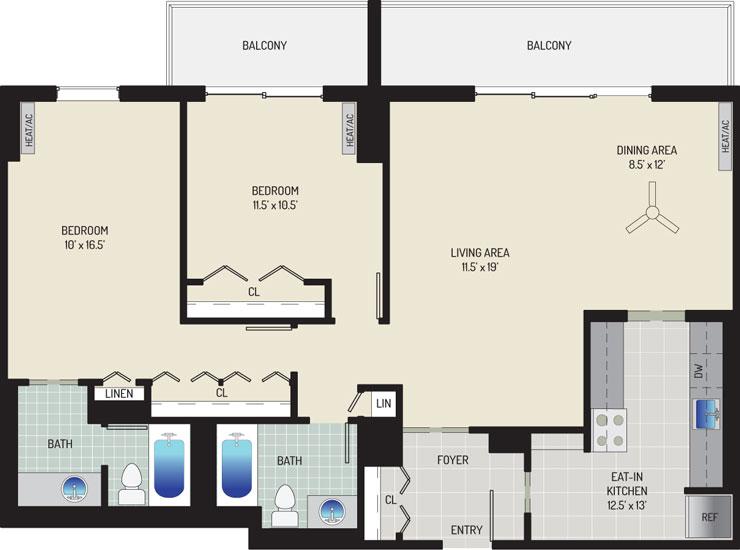 London Park Towers Apartments - Apartment 145375-1402-ZC