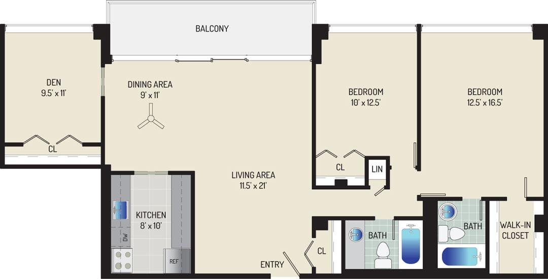 London Park Towers Apartments - Apartment 145335-113-ZE