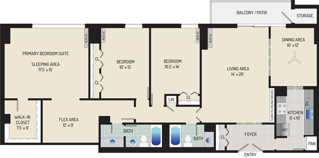 London Park Towers Apartments - Apartment 145375-0905-ZL1