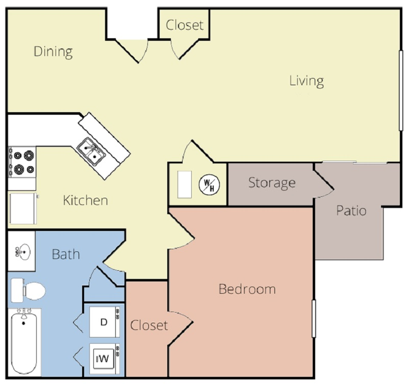 Magnolia Pointe Apartments - Floorplan - Dogwood