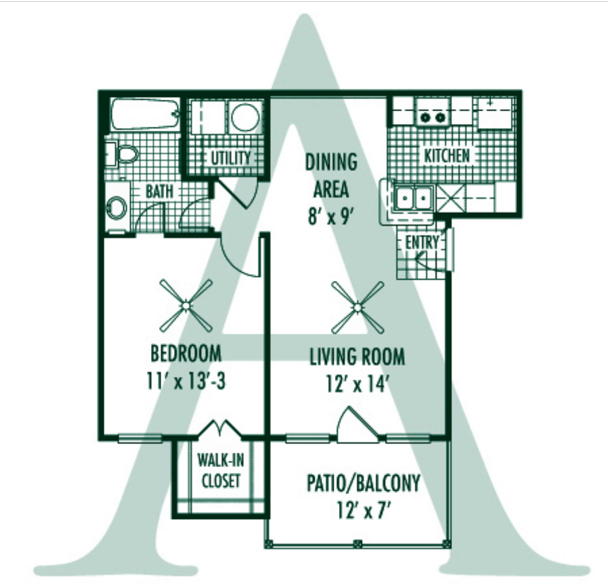 Magnolia Trace Apartment Homes - Floorplan - A Plan