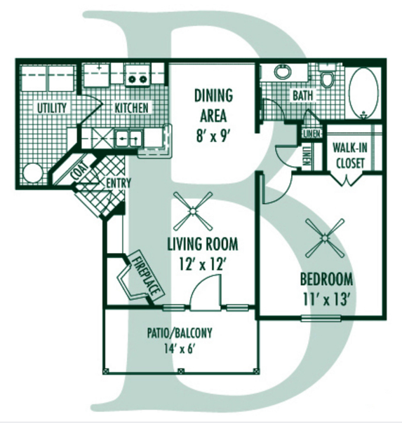Floorplan - B Plan image