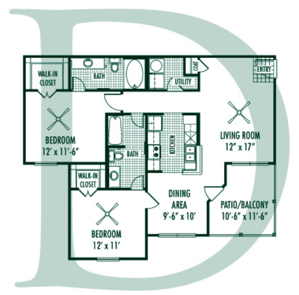 Magnolia Trace Apartment Homes - Floorplan - D Plan