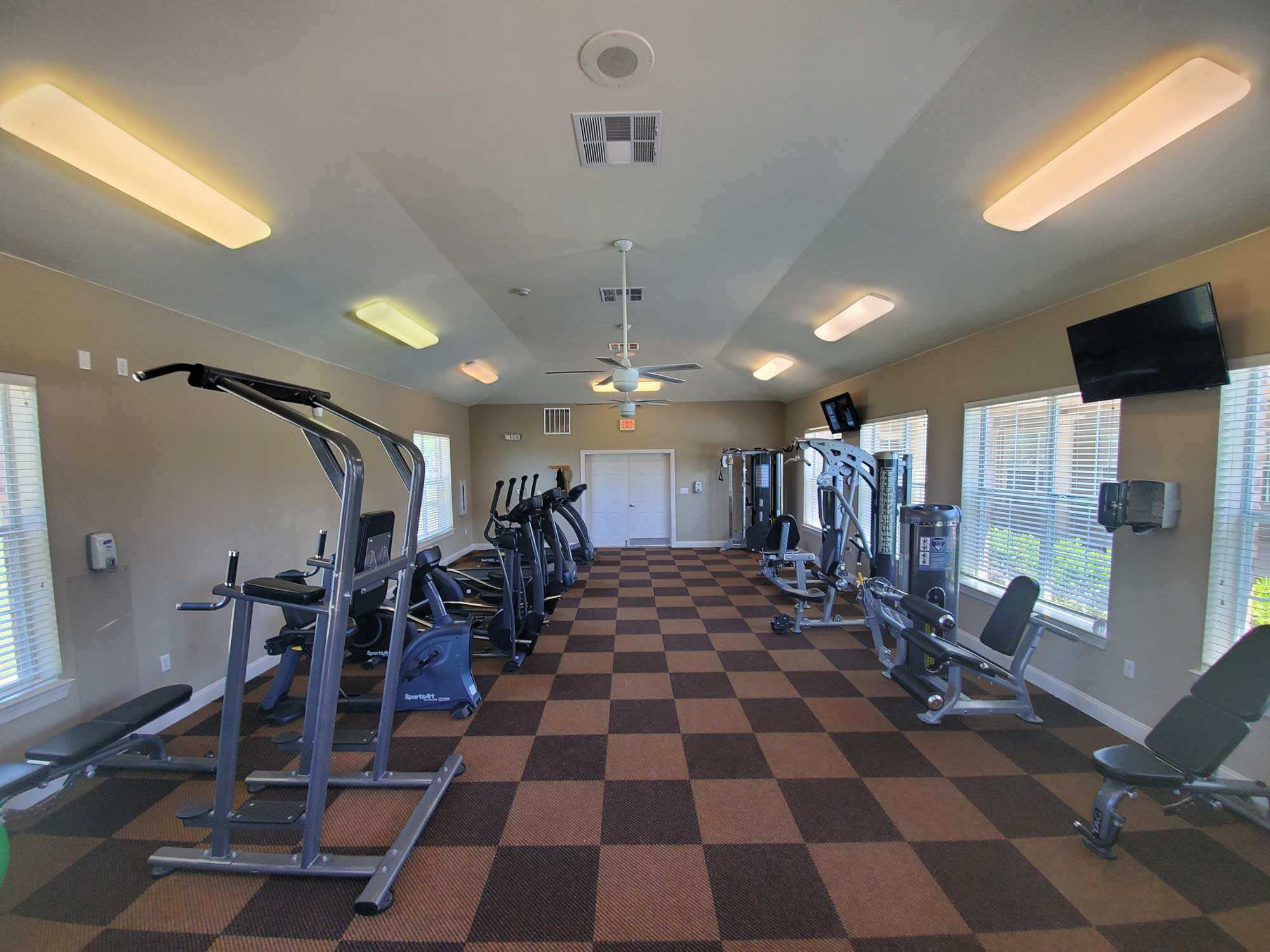 On Demand Fitness Center at Magnolia Trace Apartments in Alexandria, Louisiana