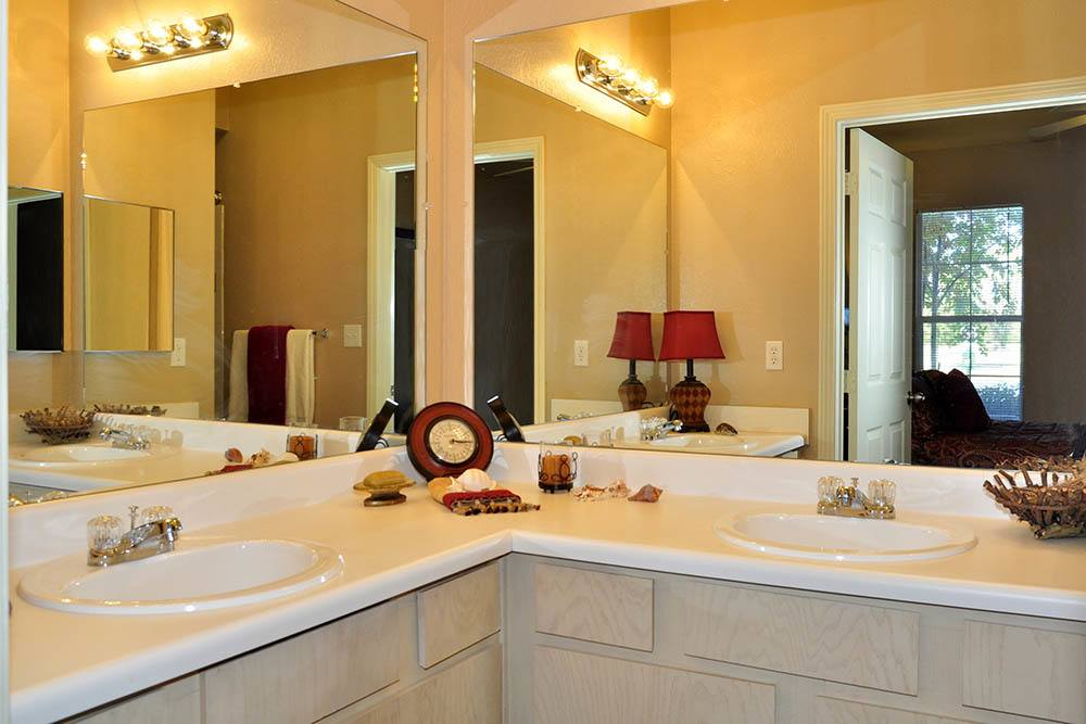 Bathroom Vanity at Magnolia Trace Apartments in Alexandria, Louisiana