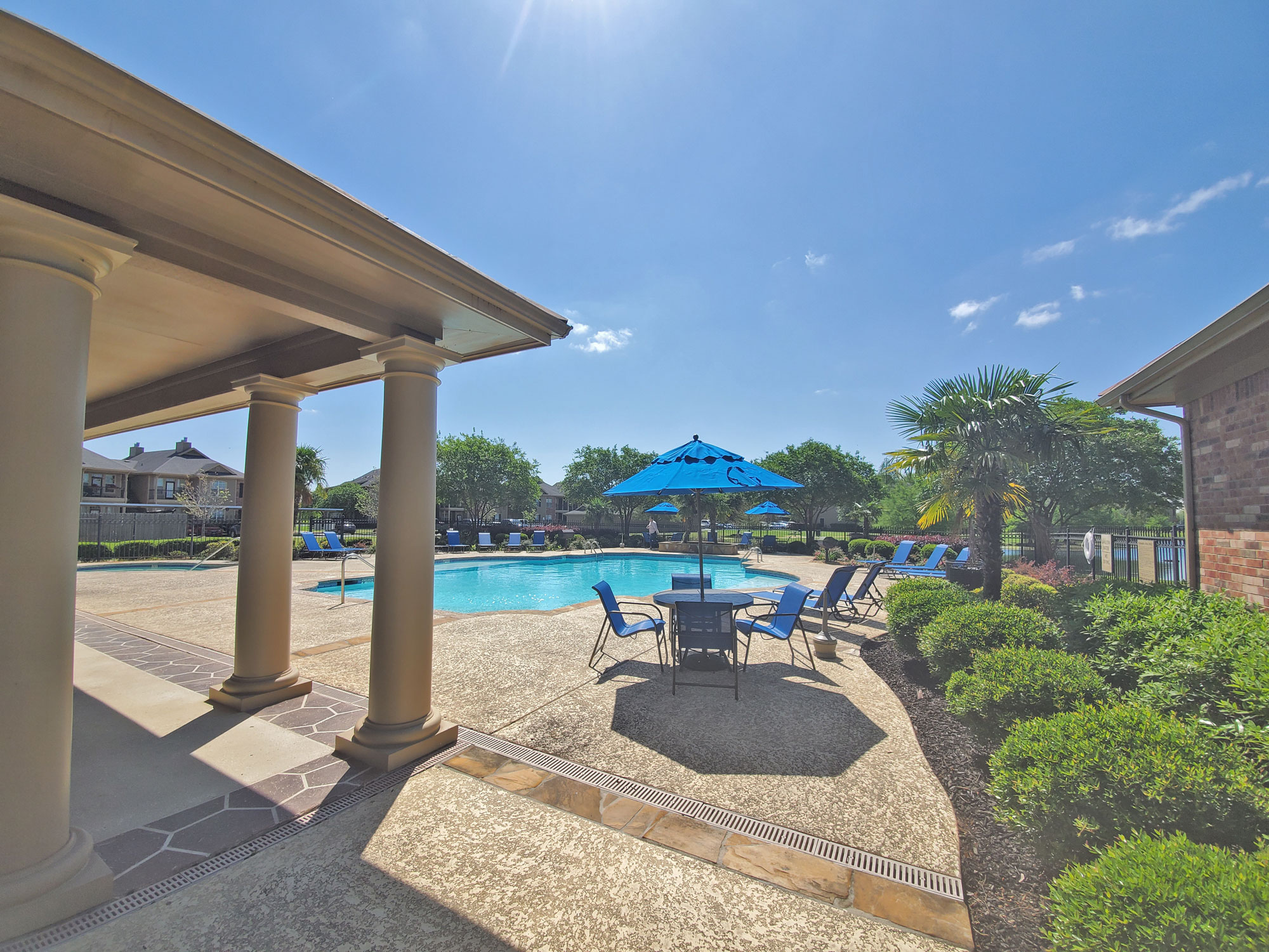 Sparkling Pool at Magnolia Trace Apartments in Alexandria, Louisiana
