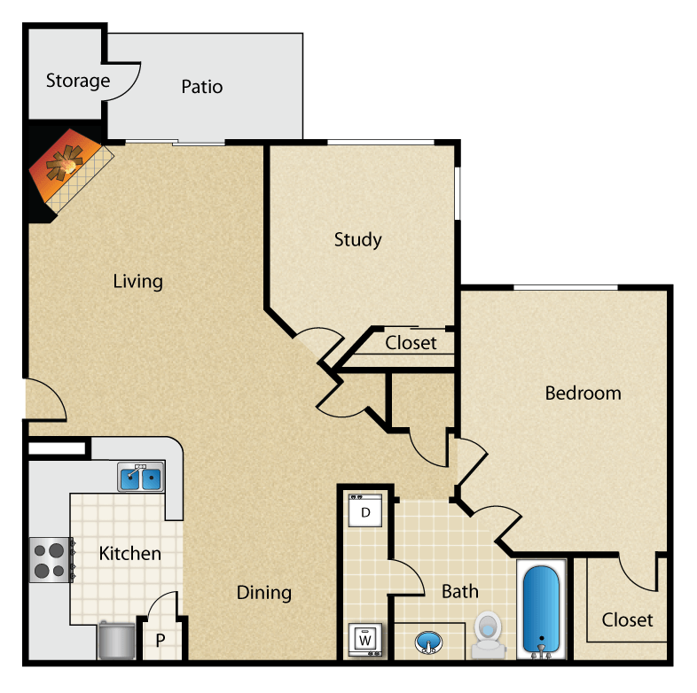 Magnolia Vinings - Floorplan - The Dogwood