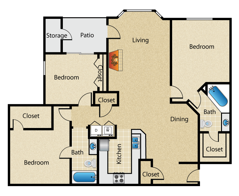 Magnolia Vinings - Floorplan - The Magnolia