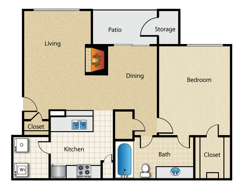 Magnolia Vinings - Floorplan - The Pine