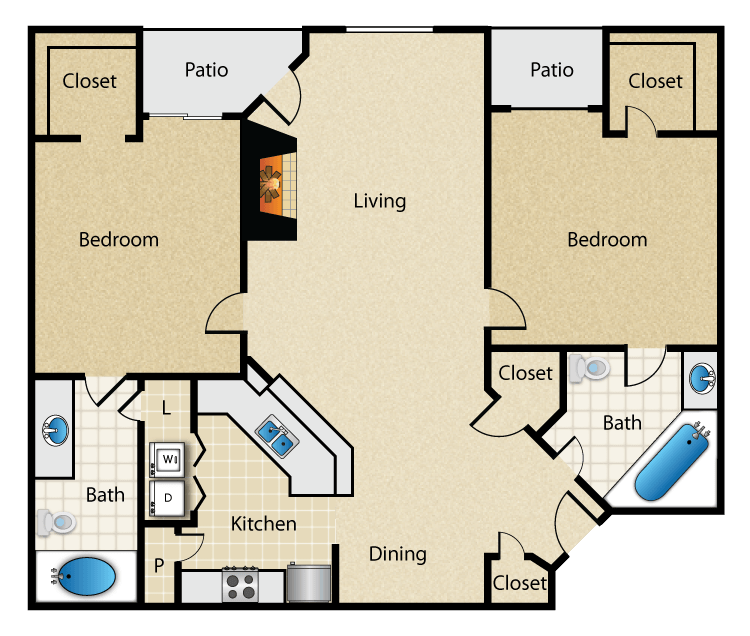 Magnolia Vinings - Floorplan - The Sycamore