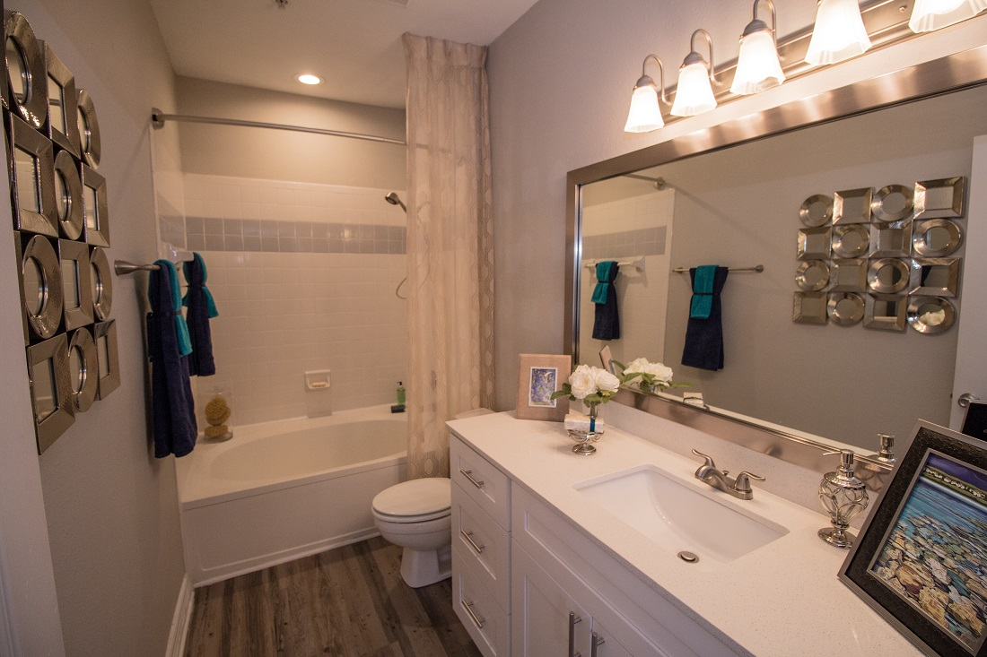 Stylish Bathrooms with Expansive Vanities at Magnolia Vinings Apartments in Atlanta, GA