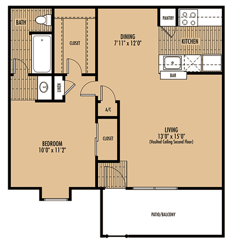 Mainstream Apartment Homes - Floorplan - Plan A