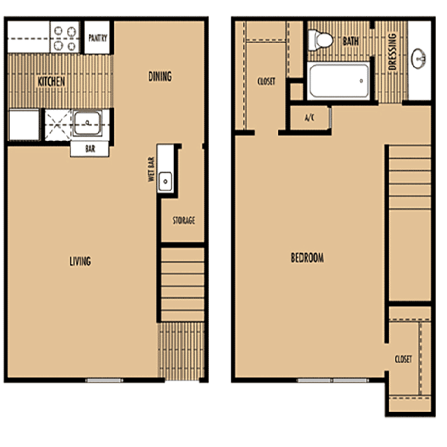 Mainstream Apartment Homes - Floorplan - Plan C