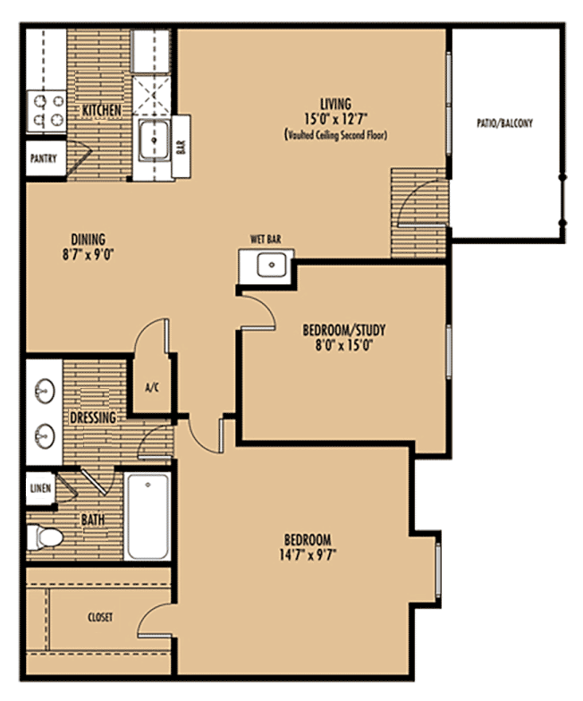 Mainstream Apartment Homes - Floorplan - Plan D