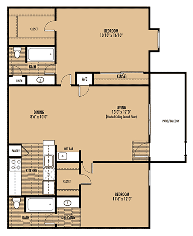 Mainstream Apartment Homes - Floorplan - Plan E