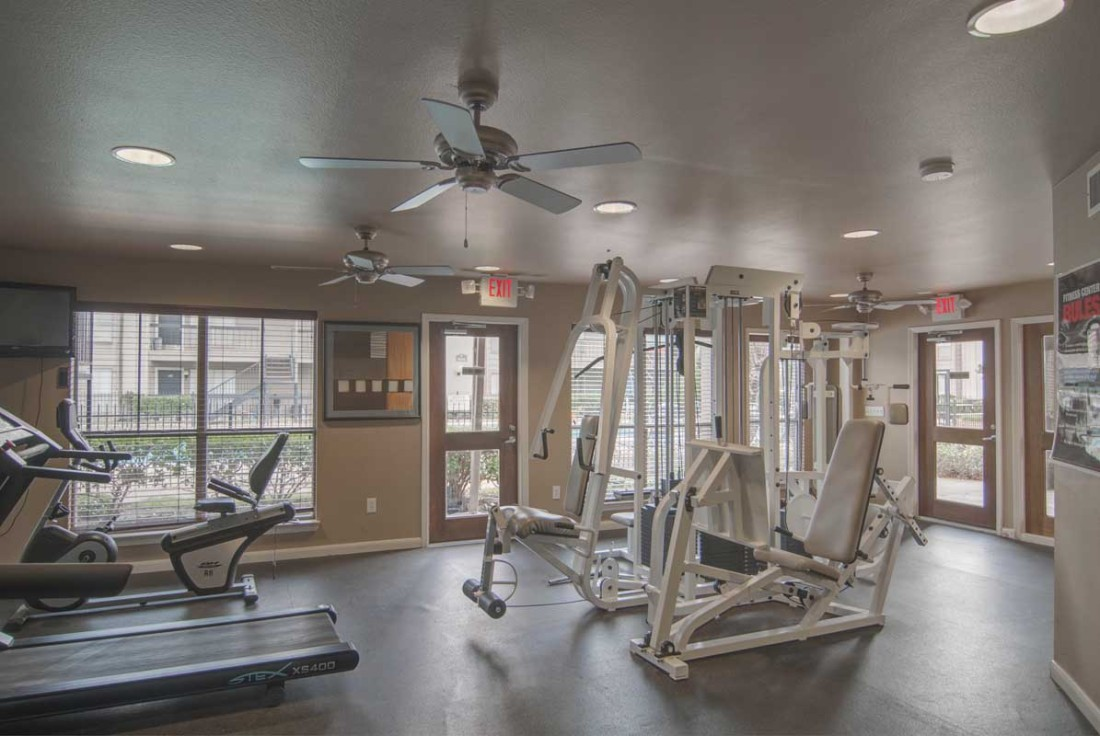 Fitness Center at Mainstream Apartments in Houston, TX