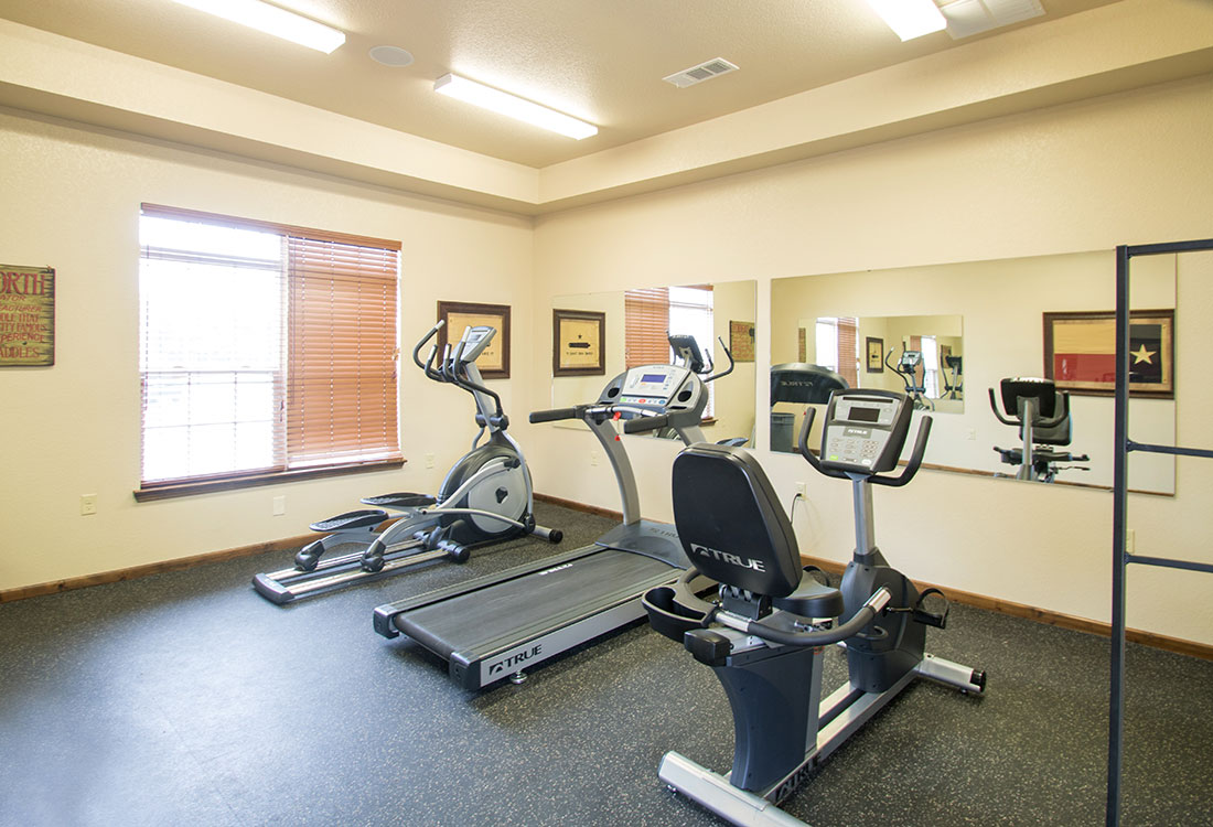 On-Site Fitness Center at Reserves at Maplewood Apartments in Wichita Falls, Texas