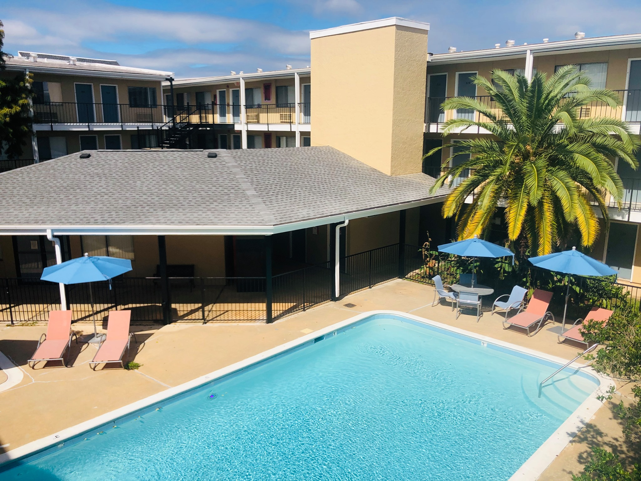 Sparkling Pool at Marigold Apartments in Mobile, Alabama