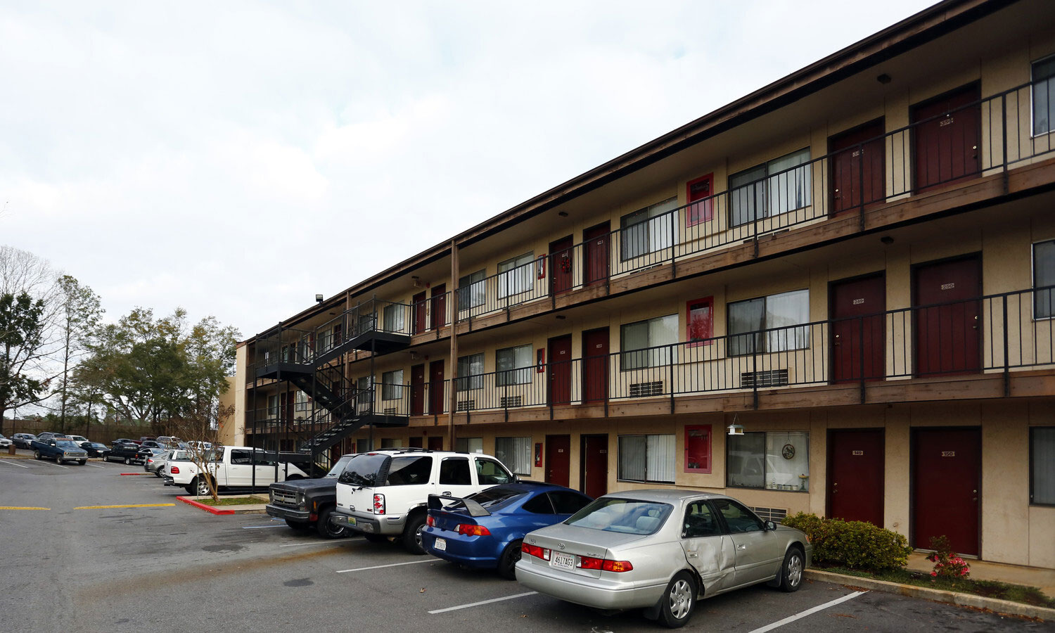 Ample Parking at Marigold Apartments in Mobile, Alabama