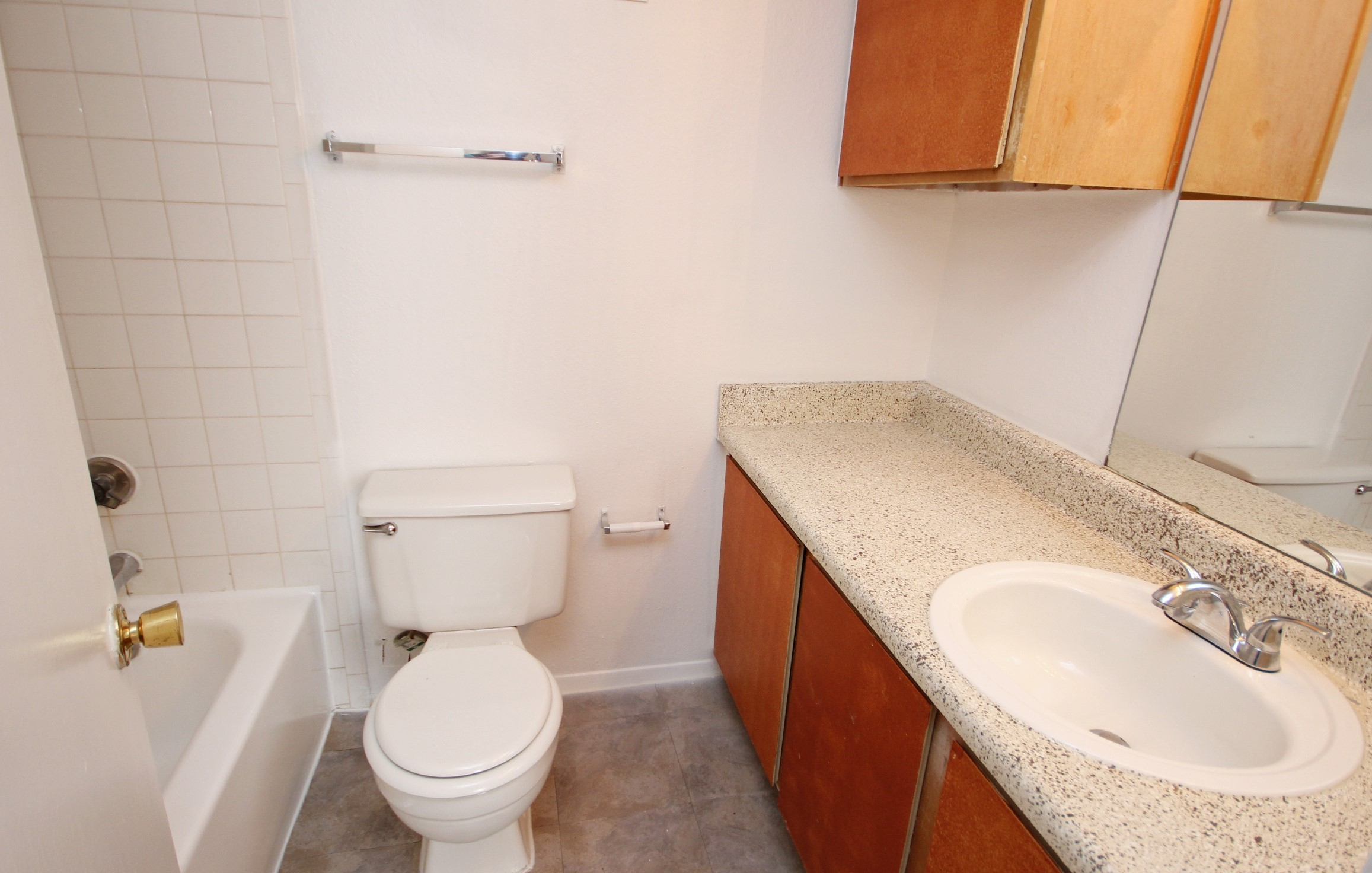 Shower and Bathtub Combination at Marine Creek Apartments in Fort Worth, Texas
