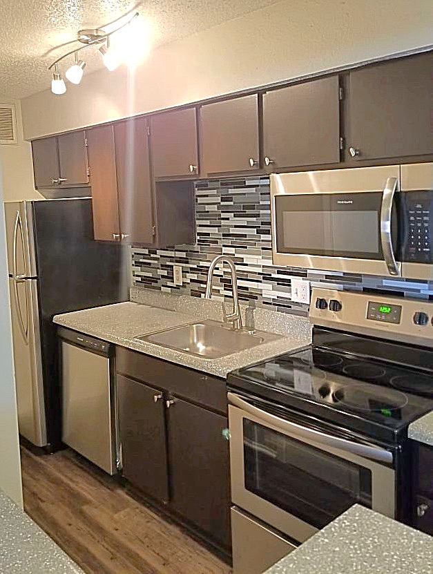 Fully-Equipped Kitchen at Marine Creek Apartments in Fort Worth, Texas