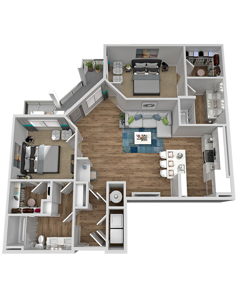 Marketplace Vista - Floorplan - B3