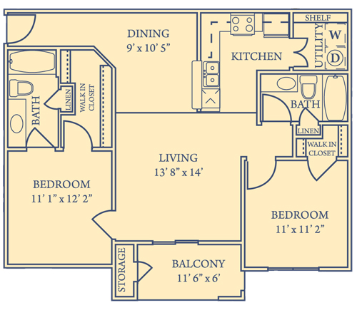 Crawford Park Apartments - Floorplan - Plan B