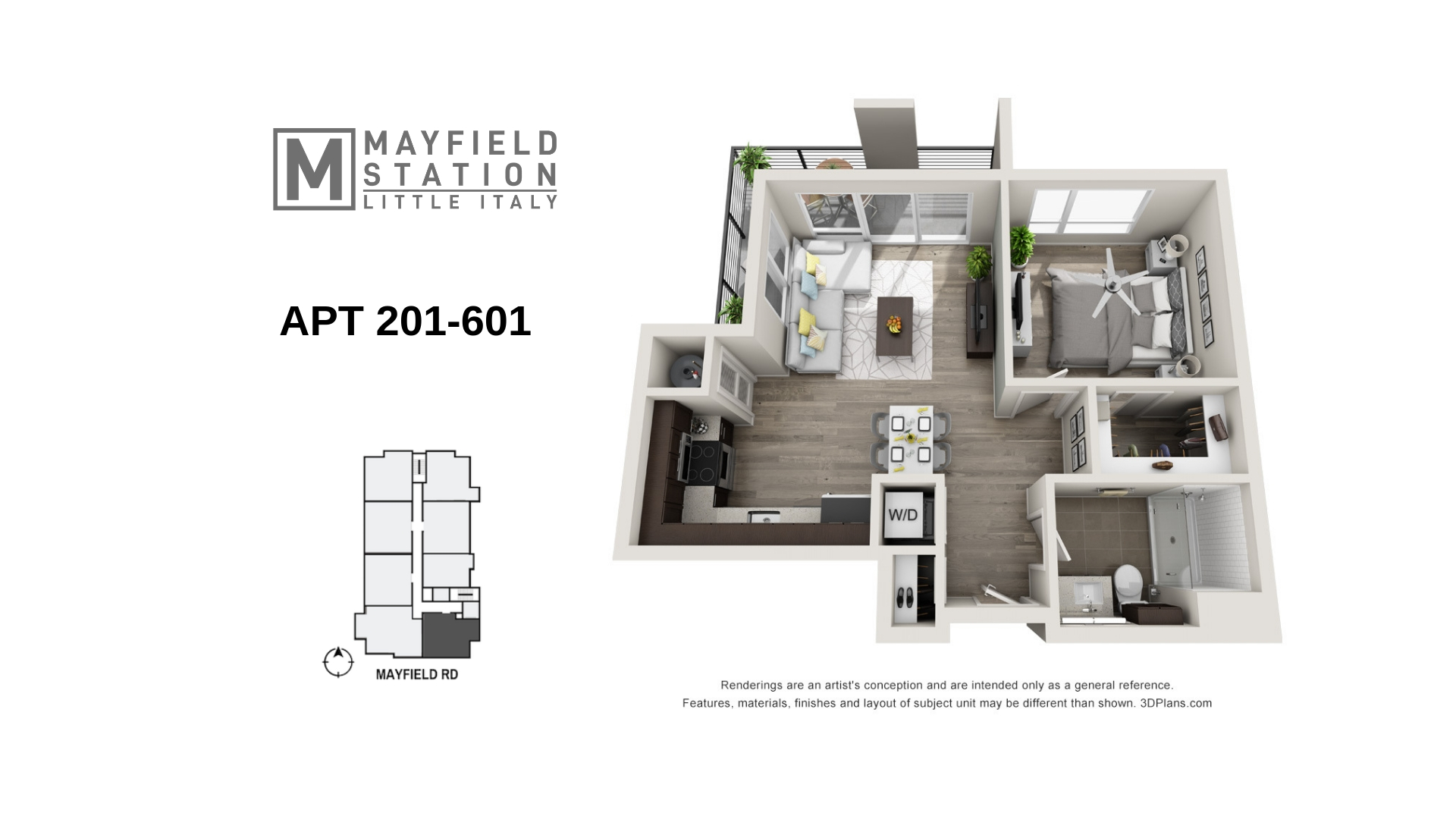 Mayfield Station Apartments - Floorplan - APT 201-601