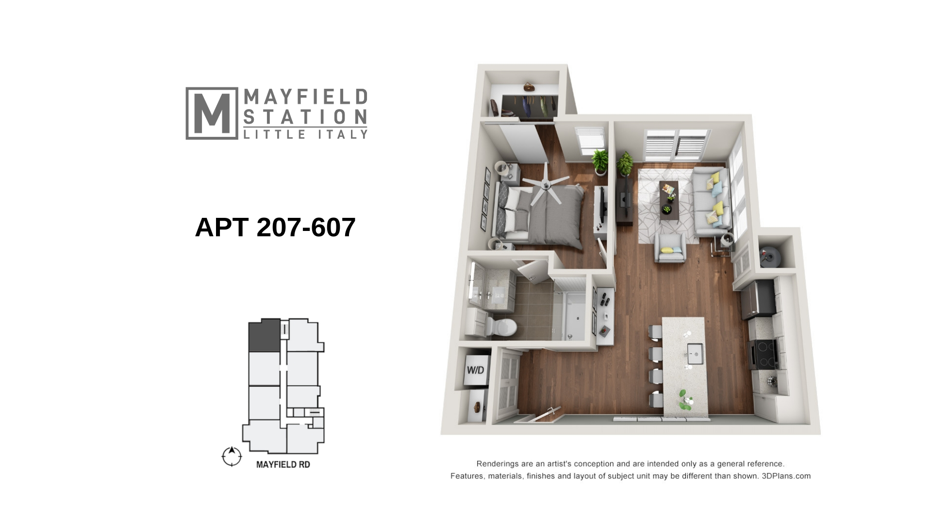 Mayfield Station Apartments - Floorplan - APT 207-607