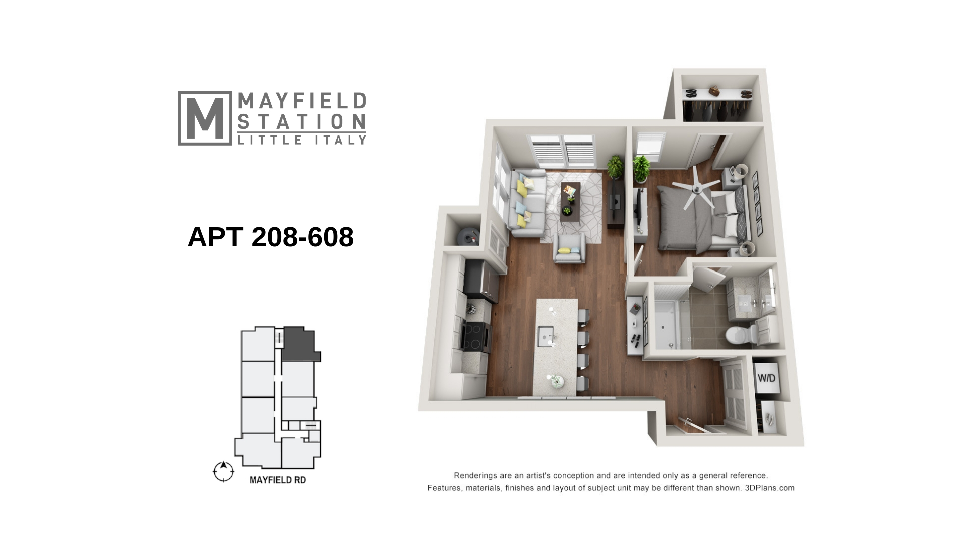 Mayfield Station Apartments - Floorplan - APT 208-608