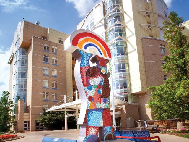 Nearby Rainbow Babies and Children's Hospital at Mayfield Station Apartment in Cleveland, Ohio
