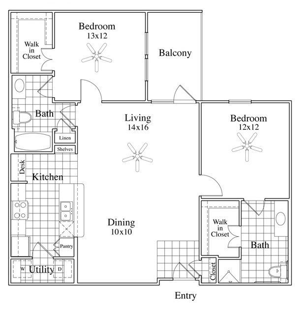 McDermott Crossing - Floorplan - Lucca