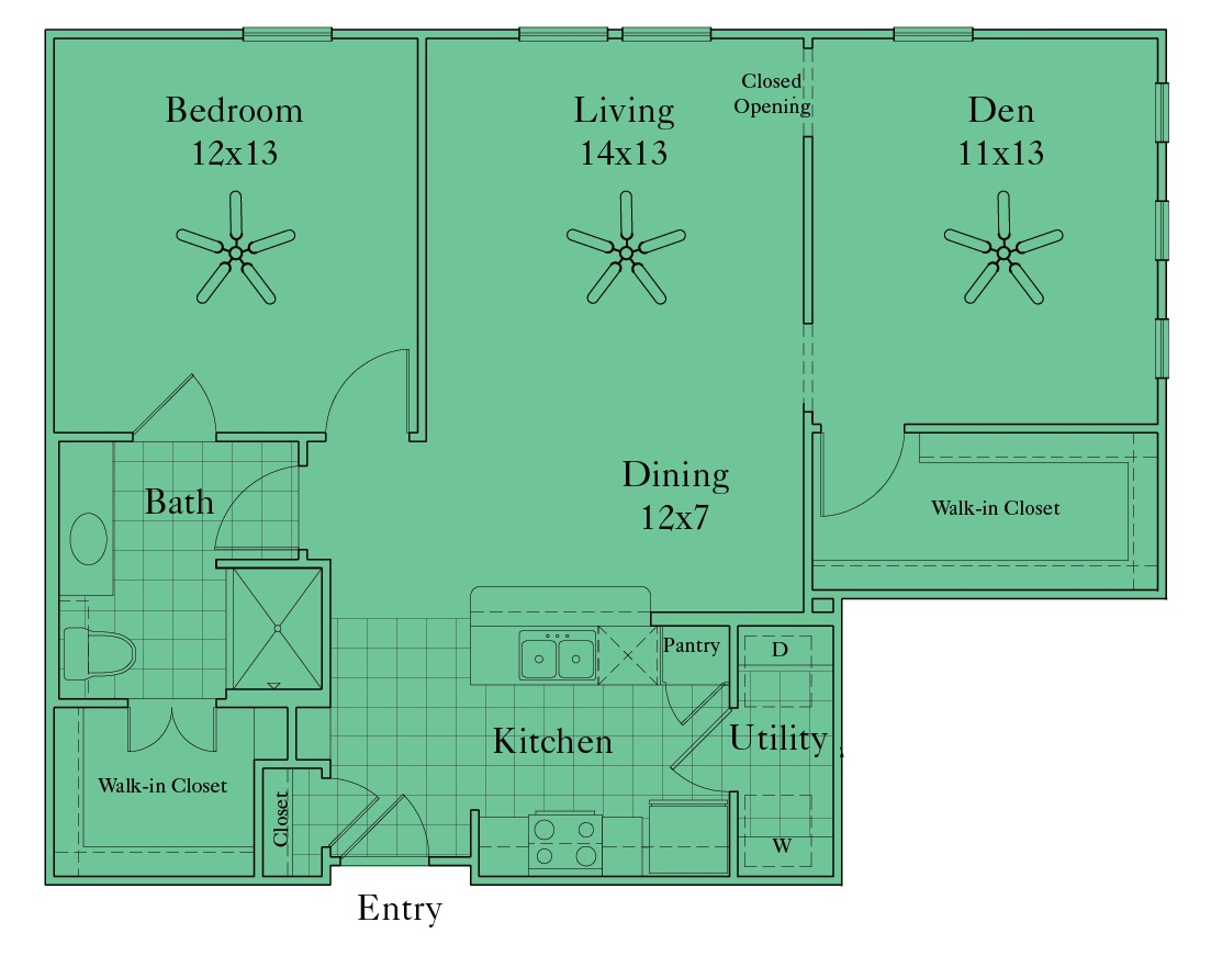 McDermott 55 - Floorplan - A3C