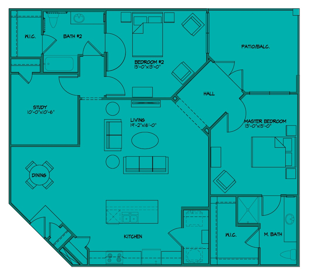 McDermott 55 - Floorplan - B3P