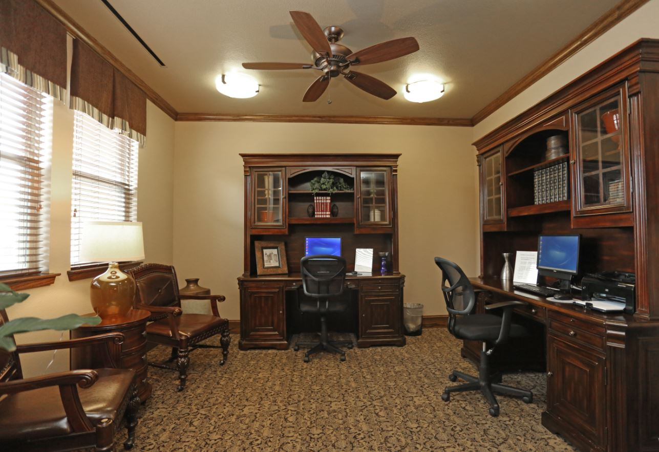 Business Center at McDermott Crossing 55+ Apartments in Plano, Texas