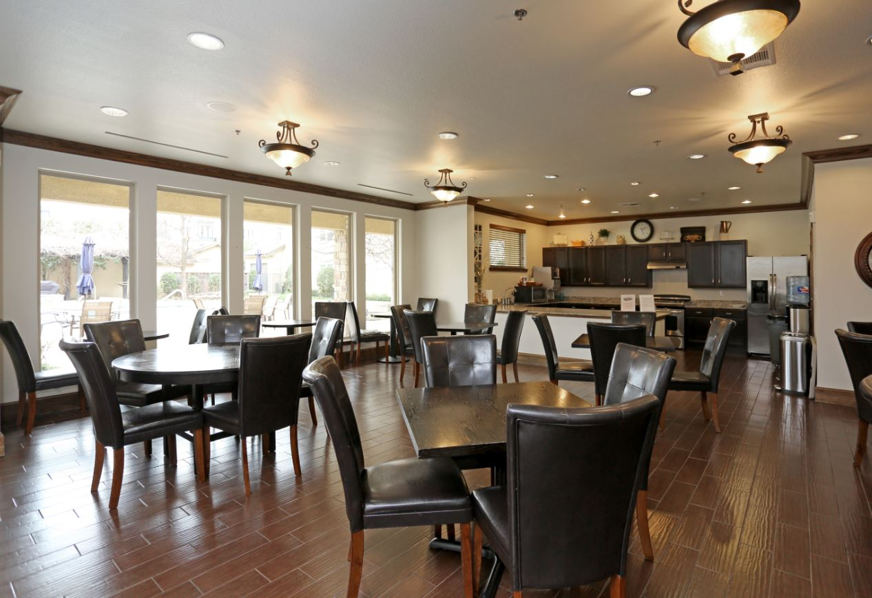 Community Kitchen at McDermott Crossing 55+ Apartments in Plano, Texas