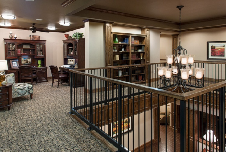 Beautiful Study at McDermott Crossing Luxury Apartments in Plano, Texas