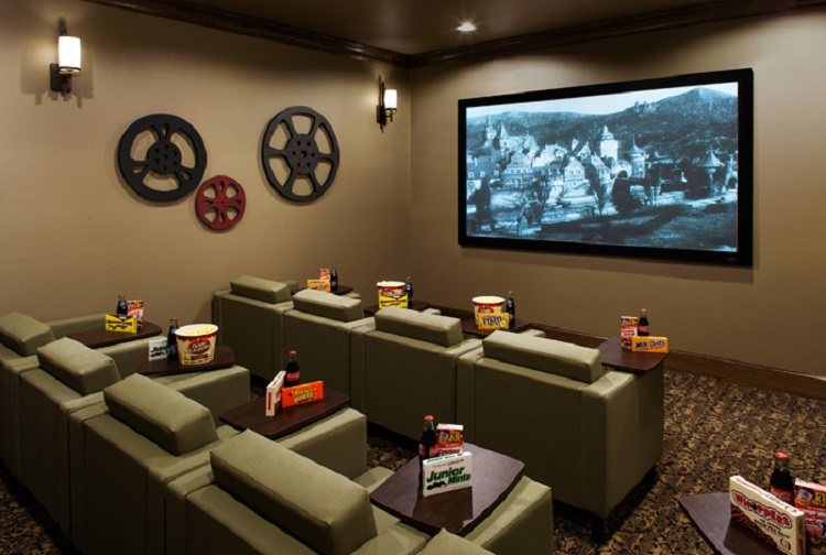 Movie Theater and Media Room at McDermott Crossing Luxury Apartments in Plano, Texas