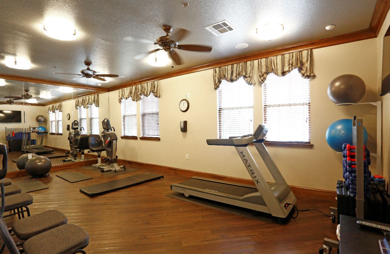 Cardio Machines at McDermott Crossing 55+ Apartments in Plano, Texas