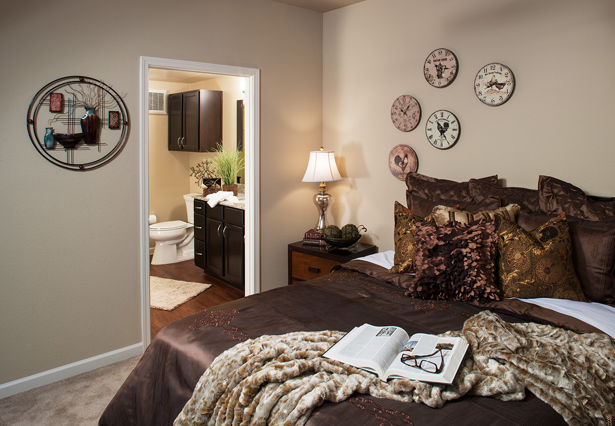 Bedroom at McDermott Crossing Senior Apartments in Plano, TX
