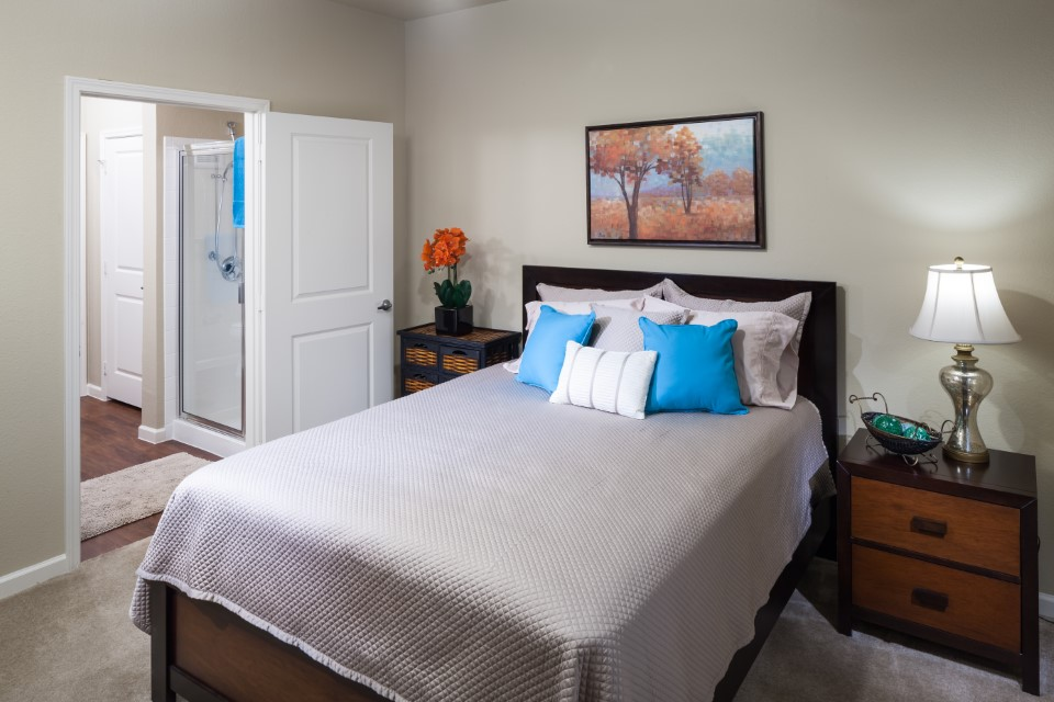 Spacious Bedroom At Mcdermott 55 Apartments In Plano, TX
