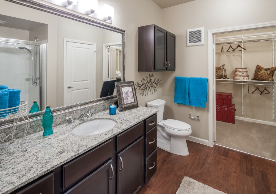 Spacious Bathroom Layouts At Mcdermott 55 Apartments In Plano, TX