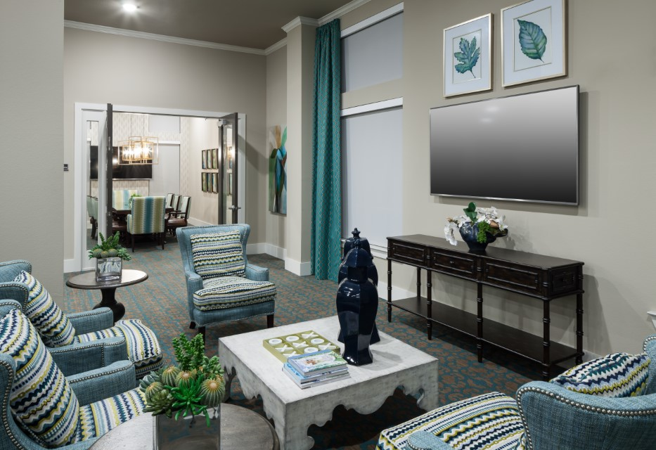 Community Lounge Room At McDermott 55 Apartments In Plano, TX