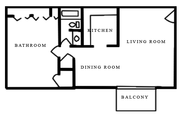 Merrimac Crossing Apartment Homes - Floorplan - One Bedroom
