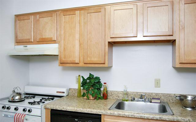 Kitchen Interior at the Merrimac Crossing Apartment Homes in Williamsburg, VA