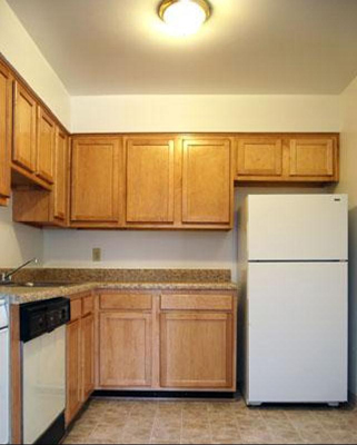Kitchen Area at the Merrimac Crossing Apartment Homes in Williamsburg, VA