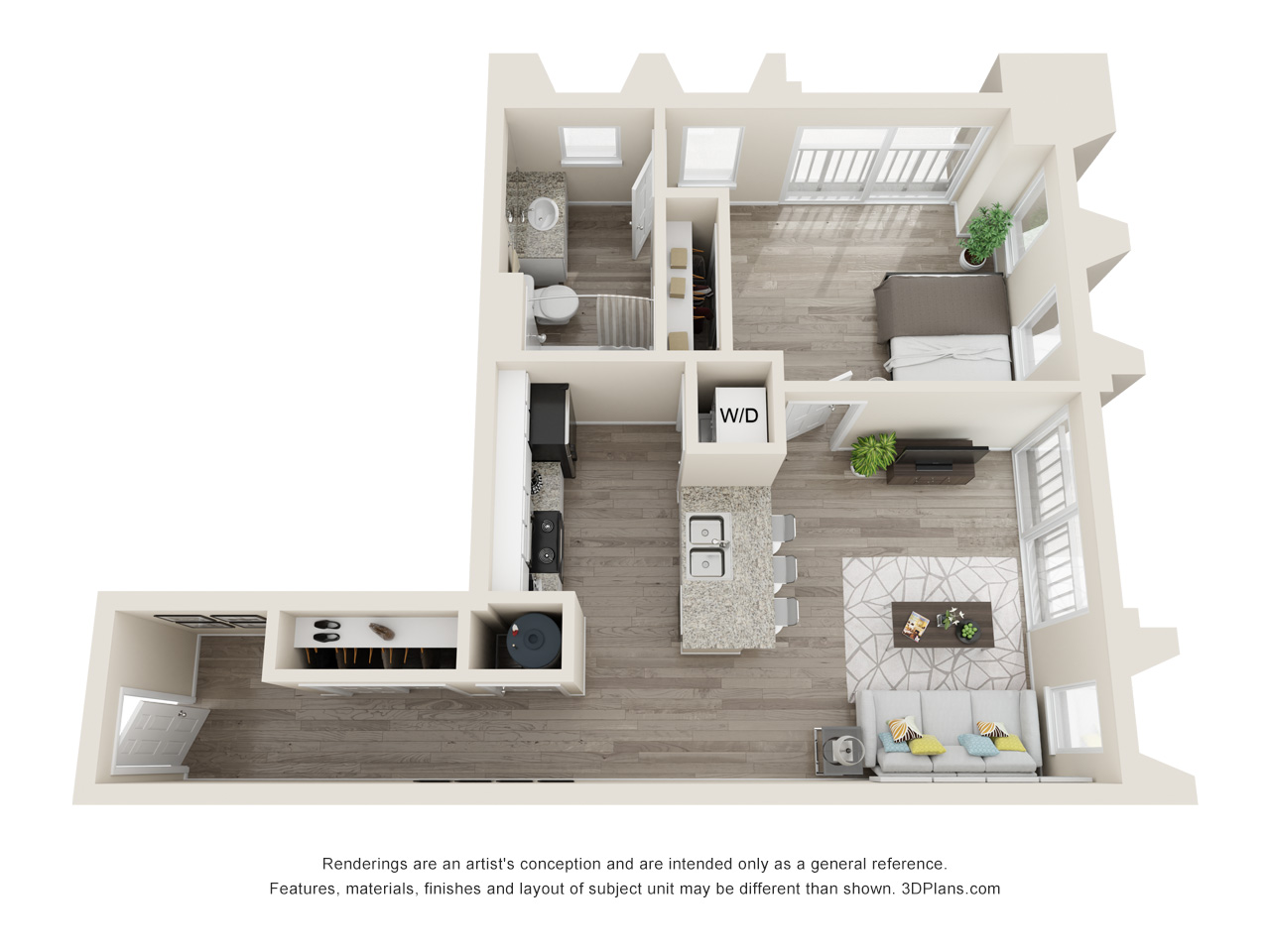 Midtown Plaza Apartments - Floorplan - Linwood
